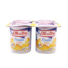 YAOURT ANANAS 4X125G ELLE&VIRE