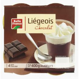 LIEGEOIS CHOCOLAT 4X100G...
