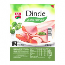 BLANC DE DINDE 2 TRANCHES...