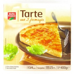 TARTE 3 FROMAGES 400G BELLE...