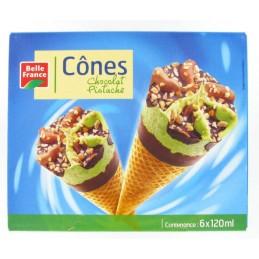CONES CHOCOLAT PISTACHE X6...