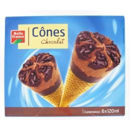 CONES CHOCOLAT 6X120ML...