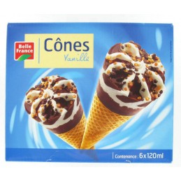 CONES VANILLE 6X120ML BELLE...