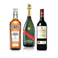 Alcools, apéritifs